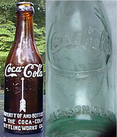 "S-S Arrow logo bottles manufactured primarily in  TN and KY from 1912-1916Source: ""Antique Coke Bottles"" - http://www.antiquebottles.com/coke/"